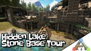 Amazing Hidden Lake Stone Huge Base Tour!! | Starter Design | No Mods | Island