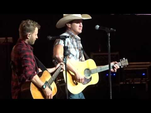 "Dierks Bentley and Jon Pardi in Bristow ""Check Yes or No"" 6/09/17"