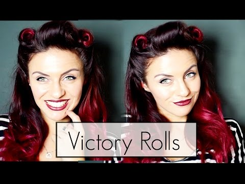 40s Retro Pinup Lookvictory Roll Hair Make Up Tutorial Get