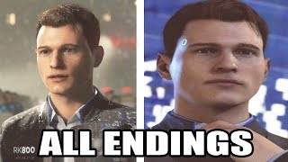 All Connor Endings - Detroit Become Human