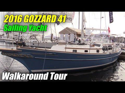 2017 Gozzard 41 Sailing Yacht – Deck and Interior Walkaround – 2016 Annapolis Sailboat Show