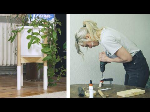 Mid-Century Pflanzenständer | DIY | skandinavisch