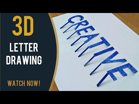 3D Drawing | How to draw 3D word LOVE - 3D Letters