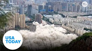 Watch 15 buildings in China get demolished simultaneously