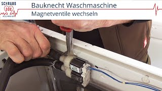 Reparaturanleitung Bauknecht Waschmaschine   Magnetventile Wechseln