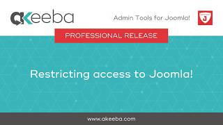 Watch a video on Restricting Access to Joomla [04:35]