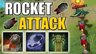 BOOM! BOOM! BOOM! Rocket Attack [Rearm + Homing Missile + Tombstone] Dota 2 Ability Draft