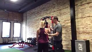 Shoulder Blade Movement and Positioning During the Landmine Overhead Press