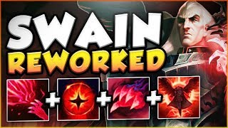 Download Video NEW SWAIN REWORK TOP GAMEPLAY IS ACTUALLY SO STUPID! REWORKED SWAIN TOP GAMEPLAY! League of Legends MP3 3GP MP4