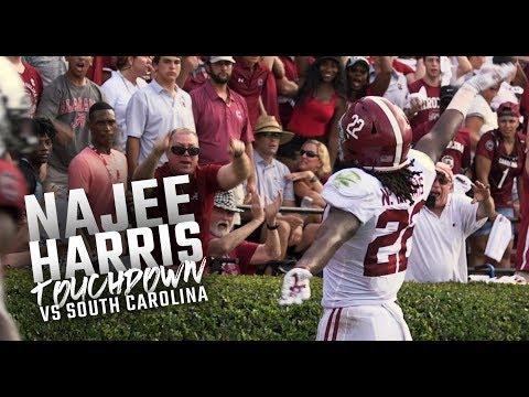Najee Harris scores an insane 42-yard touchdown during Alabama's 47-23 win over South Carolina