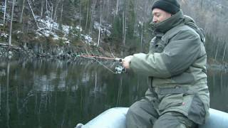 Абаканский клуб рыболов в поисках осеннего окуня