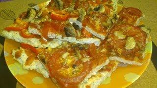 Диетическая пицца из куриной грудки от БреннерТВ (рецепт #17)