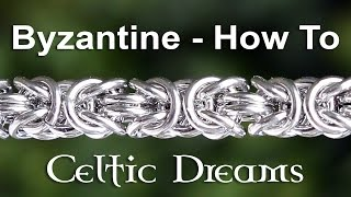 How To Make Byzantine Chain Mail Maille Bracelet Or Necklace - Best Tutorial In 1080 HD Macro