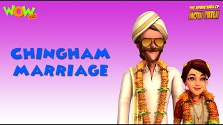 Motu Patlu Cartoons In Hindi |  Animated Cartoon | Chingham Marraige | Wow Kidz