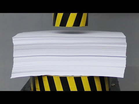 EXPERIMENT HYDRAULIC PRESS 100 TON vs 1000 Sheets of Paper