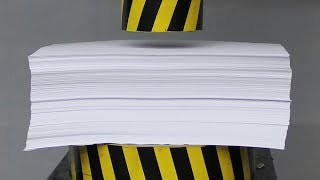 EXPERIMENT HYDRAULIC PRESS 100 TON vs 1000 Sheets of Paper