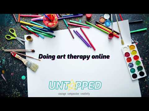 Doing art therapy online