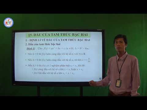Toán 10 - Dấu tam thức bậc hai (1)