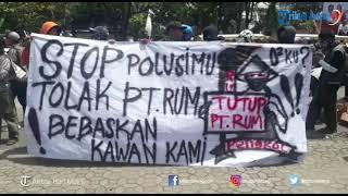 Demo Tolak Pencemaran Udara PT RUM di Depan Kantor Pemkab Sukoharjo