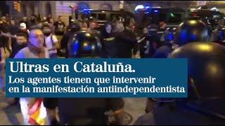 Tensión en la manifestación antiindependentista por la presencia de ultras