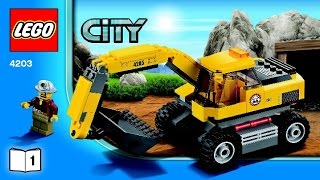 4203 LEGO Excavator Transport City Mining (Instruction Booklet)