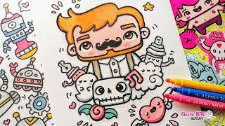 How To Draw Kawaii Hipster Boy - Doodles By Garbi KW