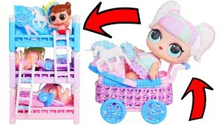 Slumber Party with LOL Surprise Supreme Pet + Unicorn Bunk Beds   Rainbow Video