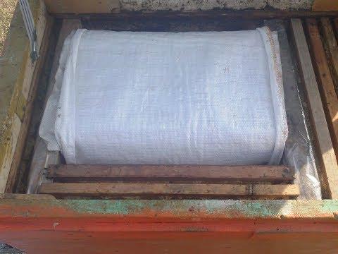Тёплый занос гнезда в лежаке при сборке в зиму