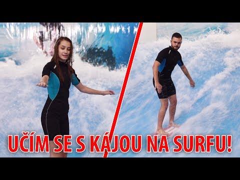 UČÍM SE S KÁJOU NA SURFU!