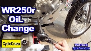 Yamaha WR250r Oil And Filter Change The Easy Way!