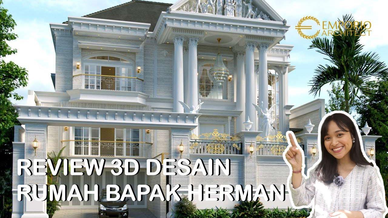 Video 3D Desain Rumah Classic 3 Lantai Bapak Herman di Denpasar, Bali