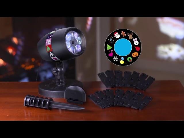 Видео Лазерный проектор для Рождества