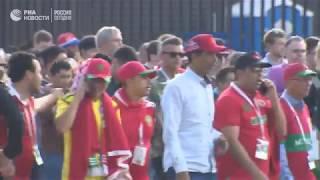 """Болельщики покидают стадион """"Лужники"""" после матча Марокко - Португалия"""