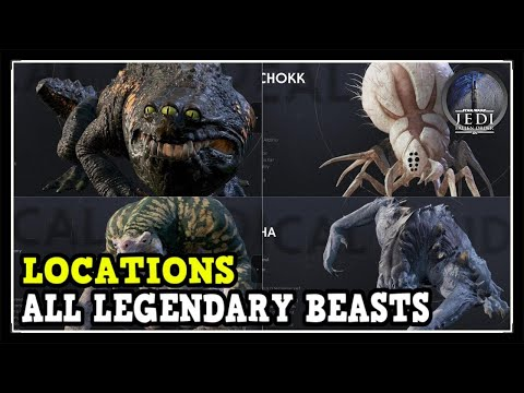 Star Wars Jedi Fallen Order All 4 Legendary Beasts Locations (Four Mysterious Creatures)