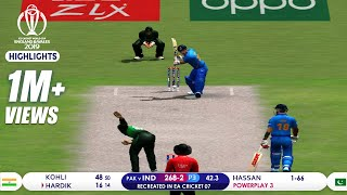 India vs Pakistan Cricket World Cup 2019 Full Match Highlights   Best of ICC CWC 2019   Recreated