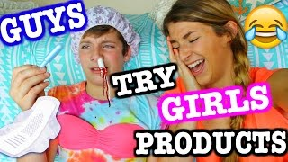 Guys Try Girls Products