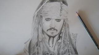 How To Draw Jack Sparrow - Drawing Timelapse