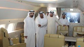 محمد بن راشد يتفقد طائرة الإيرباص 319 التابعة لمجموعة طيران الإمارات