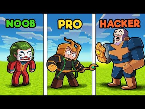 Super VILLAIN Headquarters! (NOOB vs PRO vs HACKER)