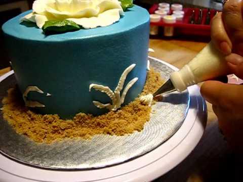 Buttercream Seashells, summery cake