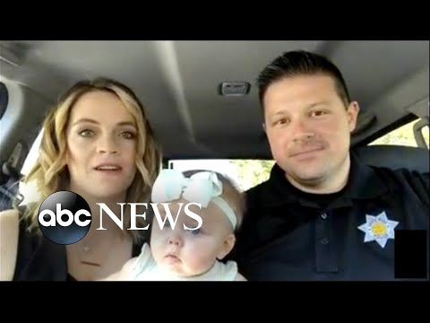 Cop adopts baby from homeless woman he helped on duty