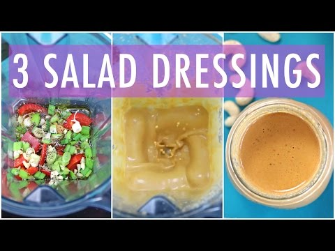 3 Homemade Salad Dressing Recipe | EASY & HEALTHY RECIPES