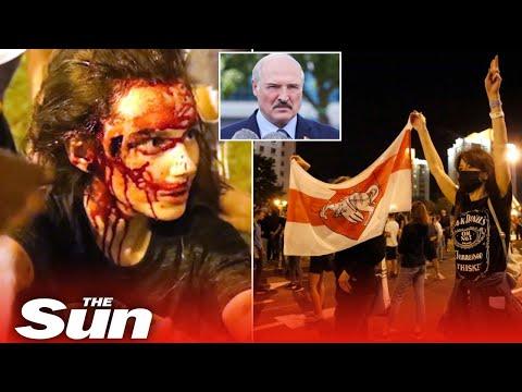 Belarus protests turn violent after contested election win