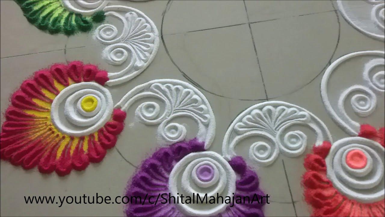 big rangoli design for navaratri by shital mahajan