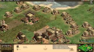 Aoe2 HD: 4v4 Black Forest (Byzantines, Flush) (8/29/13)
