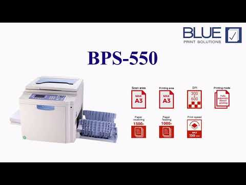 BPS 550 Blue Digital Duplicator (A3 Print)