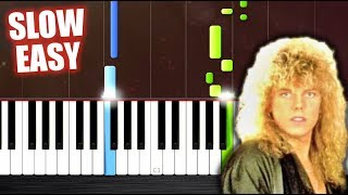 Europe - The Final Countdown - SLOW EASY Piano Tutorial by PlutaX