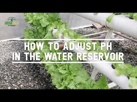 How to adjust pH in the water reservoir