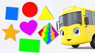 Learn Colors and Shapes | Educational Videos for Children | Baby Songs | Go Buster | Little Baby Bum