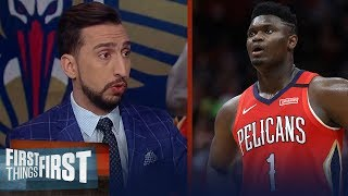 Zion's not phenomenal, he's a phenom! — Nick Wright on Pelicans vs Spurs | NBA | FIRST THINGS FIRST